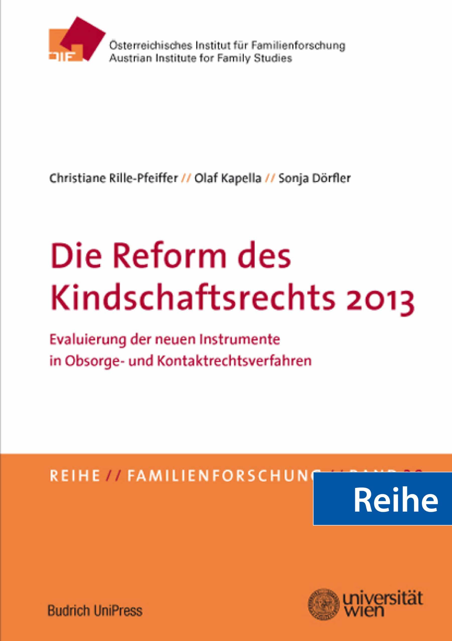 Reihe – Familienforschung – Schriftenreihe des Österreichischen Instituts für Familienforschung (ÖIF)