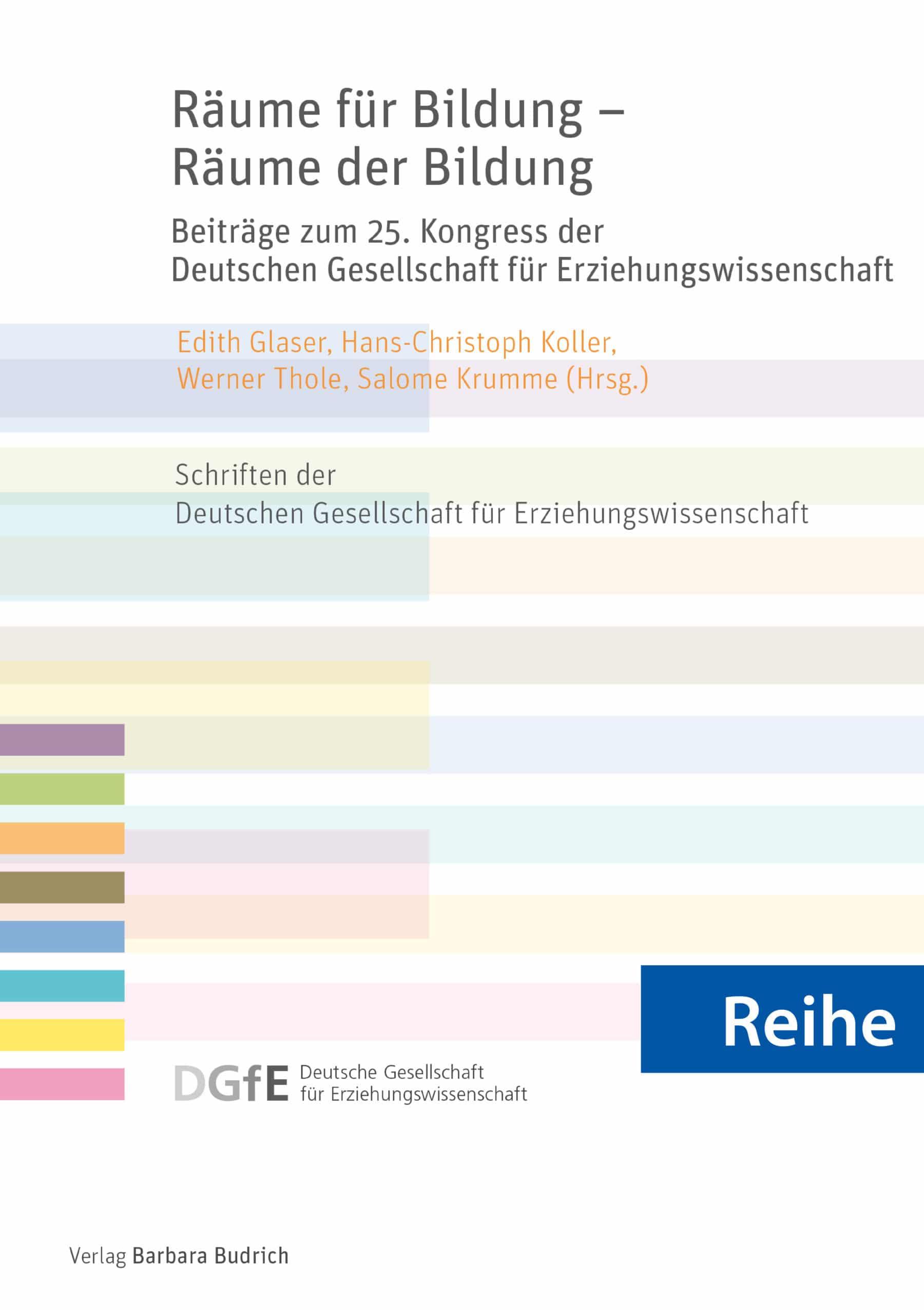 Reihe - Schriften der Deutschen Gesellschaft für Erziehungswissenschaft (DGfE)