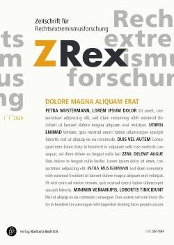 ZRex – Zeitschrift für Rechtsextremismusforschung