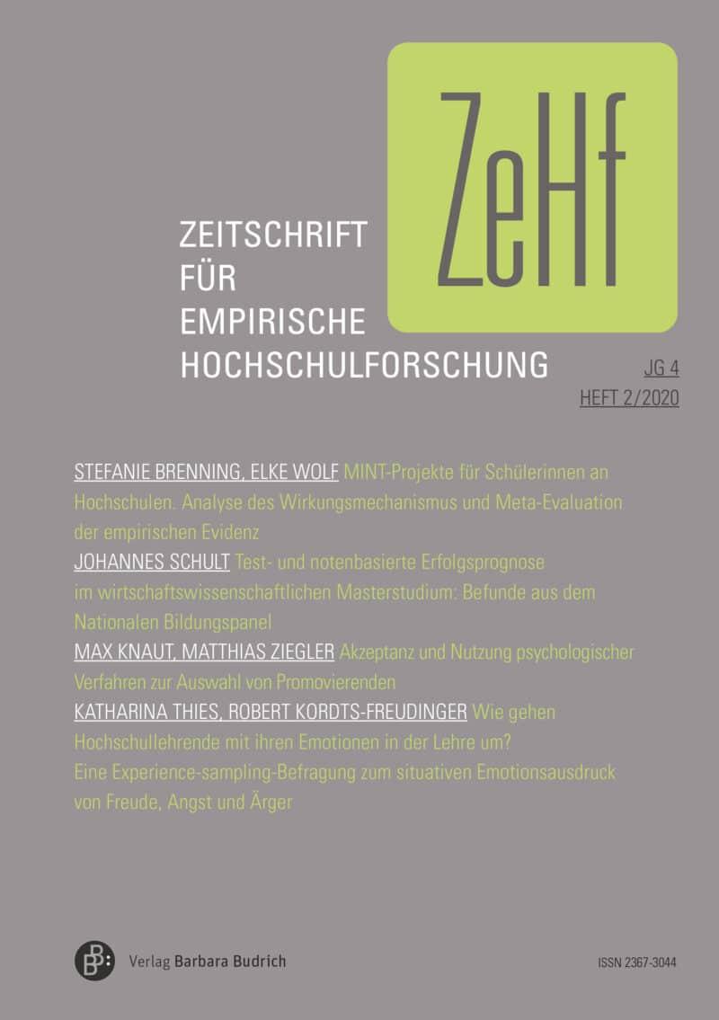 ZeHf – Zeitschrift für empirische Hochschulforschung 2-2020: Freie Beiträge