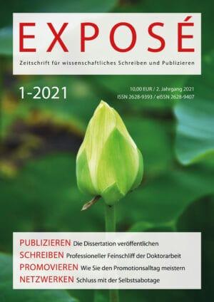 Exposé – Zeitschrift für wissenschaftliches Schreiben und Publizieren 1-2021: Die Promotion