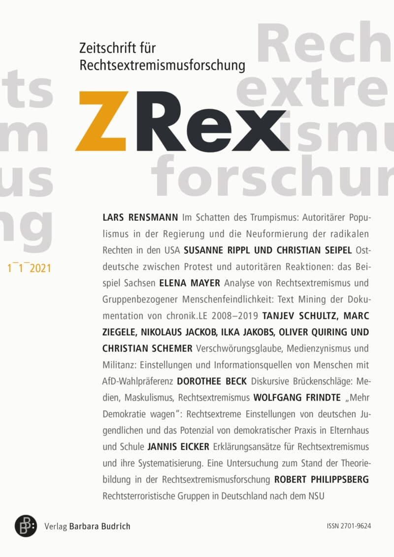 ZRex – Zeitschrift für Rechtsextremismusforschung 1-2021: Freie Beiträge