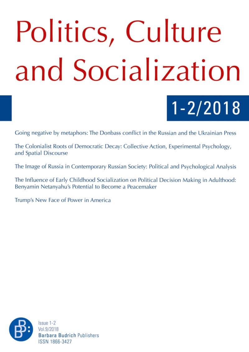PCS – Politics, Culture and Socialization 1+2-2018: Free Contributions